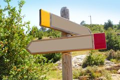 Wood copyspace traffic signal outdoor mountain Royalty Free Stock Images