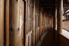 Wood corridor Royalty Free Stock Photos