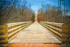 Wood covered Train Trestle Royalty Free Stock Images