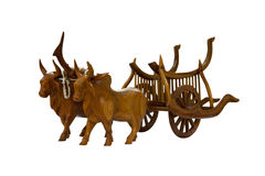 Wood cow Stock Images