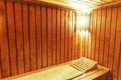 Wood cozy sauna room Royalty Free Stock Photography
