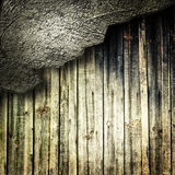 Wood with cracked wall Royalty Free Stock Photos