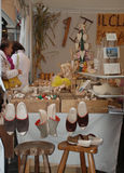 Wood Craft Stall, Friuli Royalty Free Stock Photos