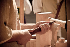 Wood craftsman Stock Images