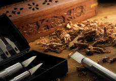 Wood craftsmanship Stock Image