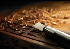 Wood craftsmanship Stock Image