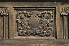 Wood craftwork. Vintage wood craftwork detail royalty free stock image