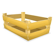 Wood Crate For Grocery Stock Photography