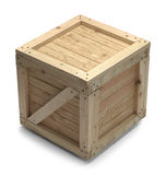 Wood Crate stock photo