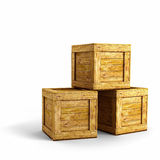 Wood crates Stock Photography