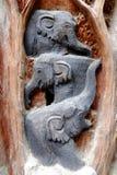 Wood Craved Elephant. Stock Photography
