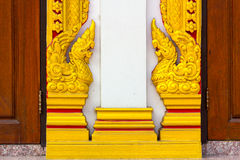 Wood Craving with Thai Pattern Royalty Free Stock Images