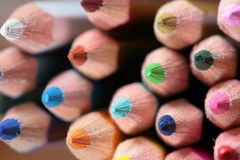 Wood crayon Stock Photos