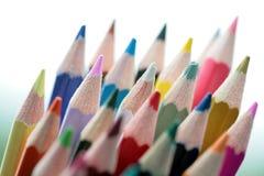 Wood crayon Stock Photos