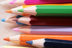 Wood crayon. Compositions (limited dof Royalty Free Stock Photos
