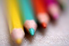 Wood crayon Stock Image