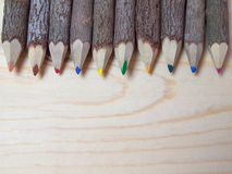 Wood crayon. Placed on a white background Stock Image