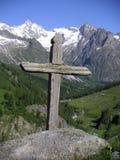 Wood Cross stock image