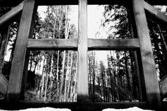 Wood cross, art foto. Tercino udoli, Nove Hrady, South Bohemia stock photography