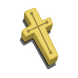 Wood cross, crucifix against vampires. Anti Vampire tool and Christianity Symbol. Element for Happy Halloween party. Wood cross like Christianity Symbol and Stock Photo