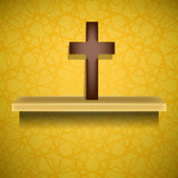 Wood Cross. Symbol of Religion Stock Images