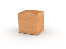 Wood cube Royalty Free Stock Images