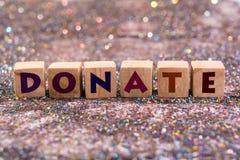 Donate word Stock Photo