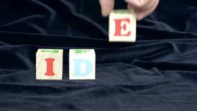 Wood Cubes stock video footage