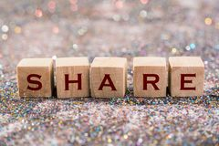 Share word Royalty Free Stock Images