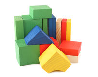 Wood cubes toys Stock Photography