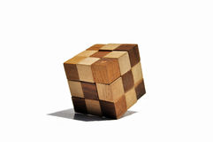 Wood Cubic Royalty Free Stock Images