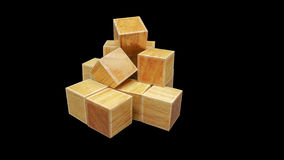 Wood cubic Royalty Free Stock Photography