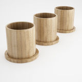 Wood cup of 3d rendering Stock Photos