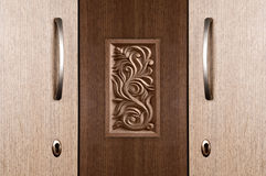 Wood cupboard Royalty Free Stock Images