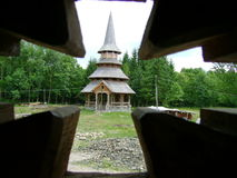 Wood curch Stock Images