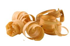 Wood Curls Stock Images