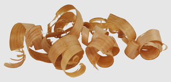 Wood Curls Isolated Royalty Free Stock Photography