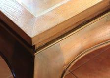 Wood curve corner furniture Stock Image