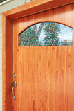 Wood custom build front door exterior Stock Image