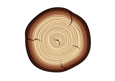 Wood cut. Drawing of an isolated wood cut Royalty Free Stock Photos