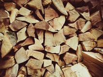 Wood. Cut wood in summer Stock Images