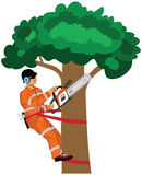 Wood cutter  illustration Royalty Free Stock Photo