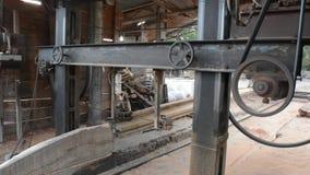 Wood cutter motor machine stock video footage