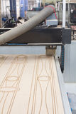 Wood cutter Router CNC Machine. (Patterns for cutting wood Stock Photography