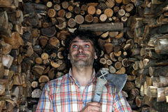Wood cutter Stock Photo