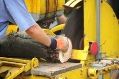 Wood cutting Stock Photo