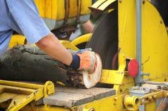 Wood cutting Stock Photo