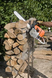 Wood cutting Royalty Free Stock Photos