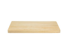 Wood cutting board isolated. Stock Photos