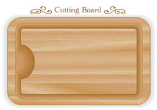 Wood Cutting Board, rectangle Royalty Free Stock Photo